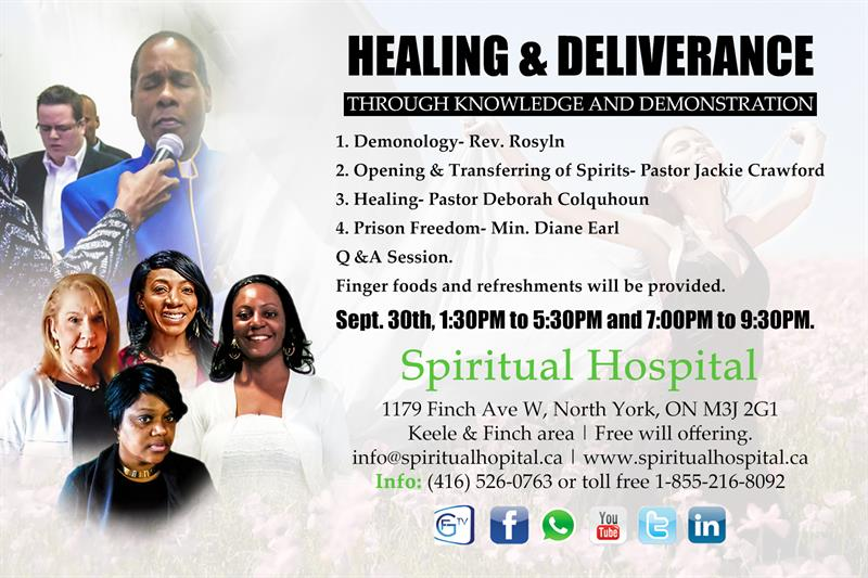 Healing and Deliverance through knowledge and demonstration - Sep 30th 2017