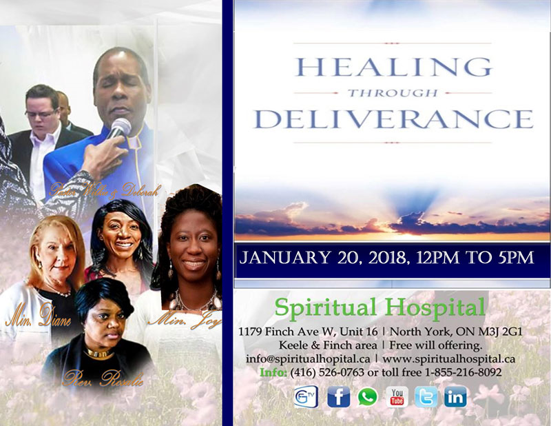 "Saturday January 20, 2018: ""Healing through deliverance"" Special Conference"